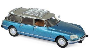 Modellauto:Citroen DS 23 Break von 1974, blau-metallic(Norev, 1:43)