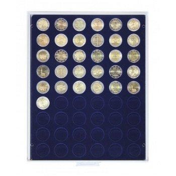 LINDNER Münzenbox, 2 €-Münzen, LI 2154M, Marine