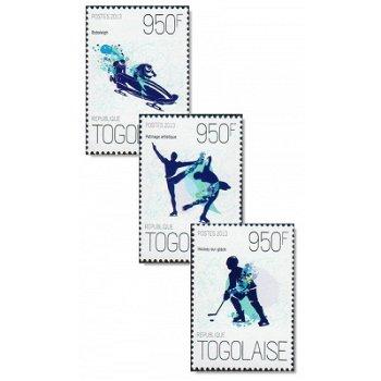 Winterspiele 2014 - 3 Briefmarken postfrisch, Togo