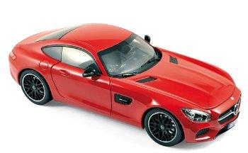 Modellauto:Mercedes-Benz AMG GT von 2015, rot(Norev, 1:18)