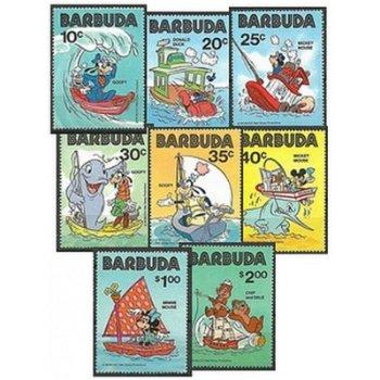 Walt Disney Figuren - 9 Briefmarken postfrisch, Barbuda
