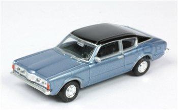 Modellauto:Ford Taunus 1600 Coupé, blau-metallic(Herpa, 1:87)