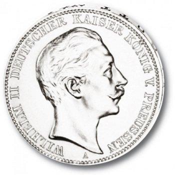 3 Mark Silbermünze, König Wilhelm II., Katalog-Nr. 103, Königreich Preußen