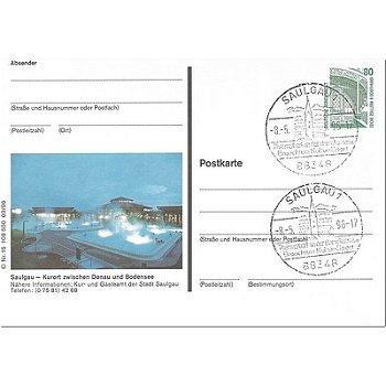 7968 Saulgau - picture postcard & quot; Thermalbad & quot;