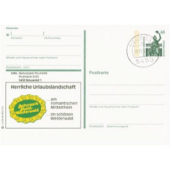 """5450 Neuwied - Bildpostkarte """" Herrliche Urlaubslandschaft"""""""