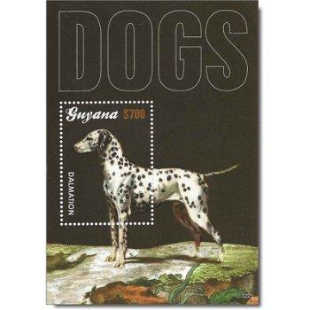 Hunde - Briefmarken-Block postfrisch, Guyana