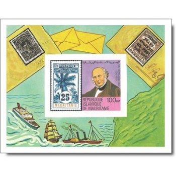 100. Todestag von Rowland Hill - Briefmarken-Block ungezähnt postfrisch, Katalog-Nr. 640 Bl. 24B, Ma