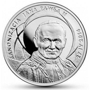 Heiligsprechung von Papst Johannes Paul II., Silbermünze Polen