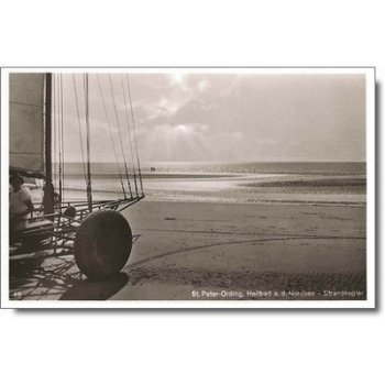 "2252 St. Peter-Ording - Postkarte ""Strandsegler"""