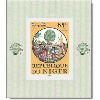 200 Jahre Luftfahrt - 6 Luxusblocks postfrisch, Katalog-Nr. 825-830, Niger