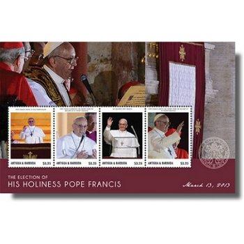 Papst Franziskus - Briefmarken-Block postfrisch, Antigua Barbuda