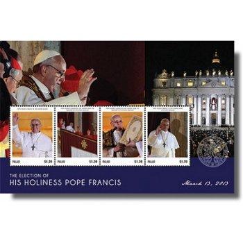 Papst Franziskus - Briefmarken-Block postfrisch, Palau