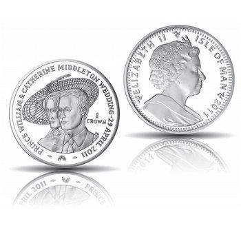 Königliche Hochzeit William und Kate - 1 Crown Silbermünze, Insel Man
