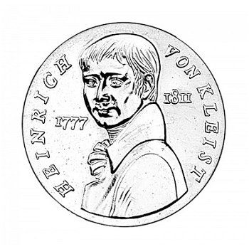5-Mark-Münze 1986, 175. Todestag Heinrich von Kleist, DDR