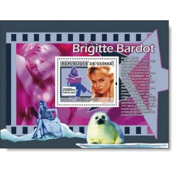 80. Geburtstag von Brigitte Bardot - Briefmarken-Block postfrisch, Katalog-Nr. 4995, Guinea