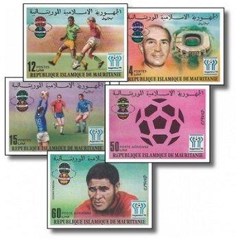 Fußball-Weltmeisterschaft 1978, Argentinien - 4 Briefmarken ungezähnt postfrisch, Katalog-Nr. 584-58
