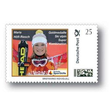 Winterspiele 2014, Ski alpin, Maria Höfl-Riesch - Marke Individuell postfrisch, Deutschland
