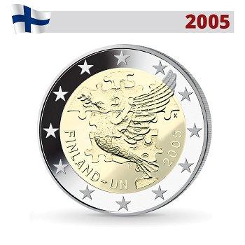50 Jahre UN-Beitritt, 2 Euro Münze 2005, Finnland