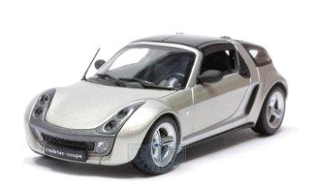 Modellauto:Smart Roadster Coupé von 2003, grau-metallic(Minichamps, 1:43)