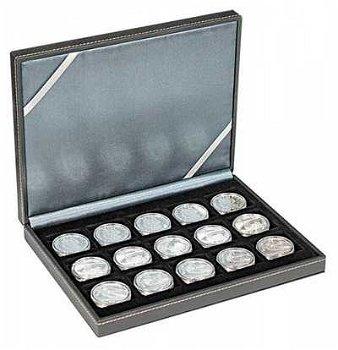 NERA Münzkassette XM mit 15 quadratischen Fächern f. Münzen/Münzkapseln bis Außen-Ø 40 mm z.B. f. 5