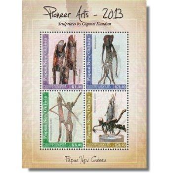Pionier-Kunst - Briefmarken-Block postfrisch, Papua Neuguinea