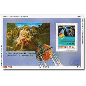 Raumfahrt der Zukunft /Peter Paul Rubens - Briefmarken-Block postfrisch, Block 197, Bolivien
