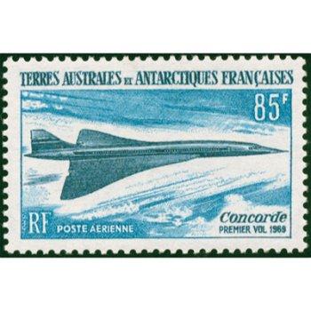 Erster Versuchsflug ''Concorde'' - Briefmarke postfrisch, Katalog-Nr. 51, TAAF