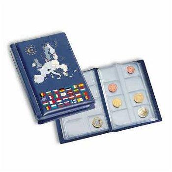 Taschenalbum ROUTE für 12 Euro-Kursmünzensätze, blau, Leuchtturm 330102