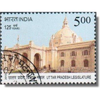 125 Jahre Parlamentsgebäude von Uttar Pradesh - Briefmarke gestempelt, Katalog-Nr. 2692, Indien