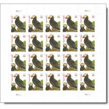 Papageientaucher - Schalterbogen postfrisch, USA