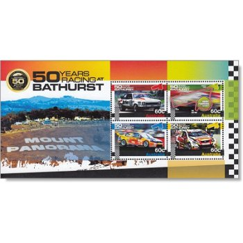 50 Jahre Rennen in Bathurst - Briefmarken-Block Nr. 150 postfrisch, Australien
