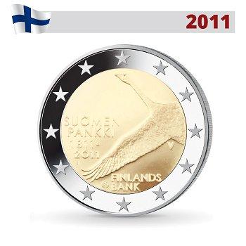 200 Jahre Nationalbank, 2 Euro Münze 2011, Finnland