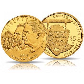 100 Jahre National Park Service, 5 Dollar Goldmünze, USA