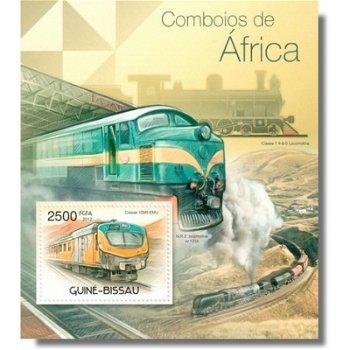 Züge von Afrika - Briefmarken-Block postfrisch, Katalog-Nr. 5866 Bl. 1035, Guinea-Bissau