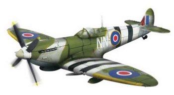 Modell-Flugzeug:U.K. Spitfire MK. IX, Normandy 1944(Unimax/Forces of Valor, 1:72)