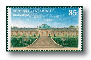 Burgen und Schlösser 2016: Schloß Sanssouci - Briefmarke postfrisch, Kat.Nr. 3216, Deutschland