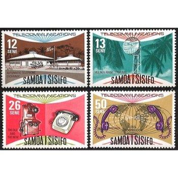 Ausbau des Fernmeldewesens auf Samoa – vier Briefmarken postfrisch, Katalog-Nr. 354-357, Samoa