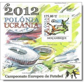 Fußball-Europameisterschaft 2012 – Briefmarken-Block postfrisch, Mocambique