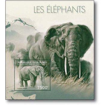 Afrikanischer Elefant - Briefmarken-Block postfrisch, Burundi