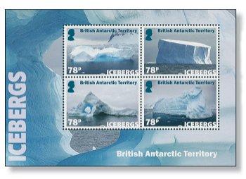 Eisberge - Briefmarken-Block postfrisch, Britische Gebiete in der Antarktis