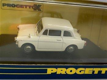 Modellauto:Autobianchi Bianchina Berlina von 1962, weiß(Progettok, 1:43)