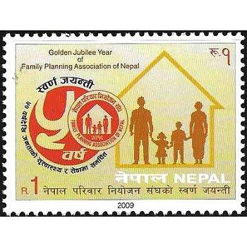 50 Jahre nationaler Verband für Familienplanung – Briefmarke postfrisch, Katalog-Nr. 968, Nepal