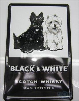 Blechschild:Scotch Whiskey - Black & White -(20 x 30 cm)