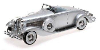 Modellauto:Duesenberg SJN (Supercharged) Cabriolet von 1936, silber(Minichamps, 1:18)