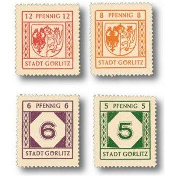 Lokalausgabe Görlitz - 4 Briefmarken postfrisch, Katalog-Nr. 13-16