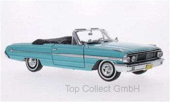 Modellauto:Ford Galaxie 500 XL Cabriolet von 1964, türkis(Sun Star, 1:18)
