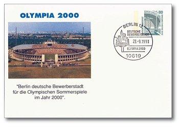 Olympia 2000 - Sonderbeleg, Deutschland