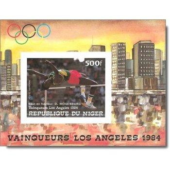 """Olympische Sommerspiele 1984, Los Angeles """"Medaillengewinner"""" - Briefmarken-Block ungezähn"""