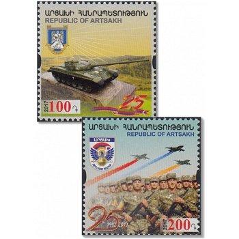 25. Jahrestag der Befreiung von Shushi - 2 Briefmarken postfrisch, Berg-Karabach