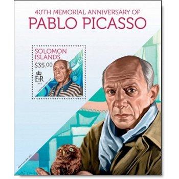 Pablo Picasso - Briefmarkenblock postfrisch, Salomon-Inseln